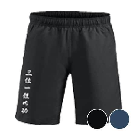 Unisex Hollis shorts med tryk i sort